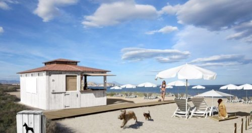 Die erste Strandbar für Hunde
