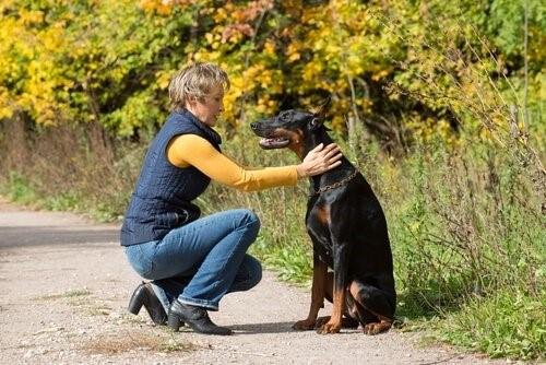 die Loyalität - Frau mit Hund