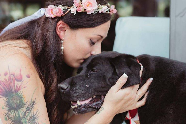 Hund mit Hirntumor stirbt nach der Hochzeit seines Frauchen