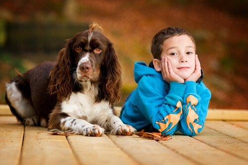Auch für die körperliche und seelische Gesundheit von Kindern sind Hunde ideal.