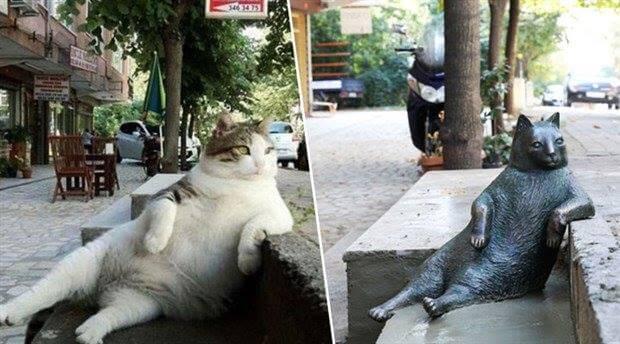 Statue der Katze