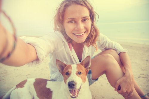 Gute Hundefotos: Selfie am Strand