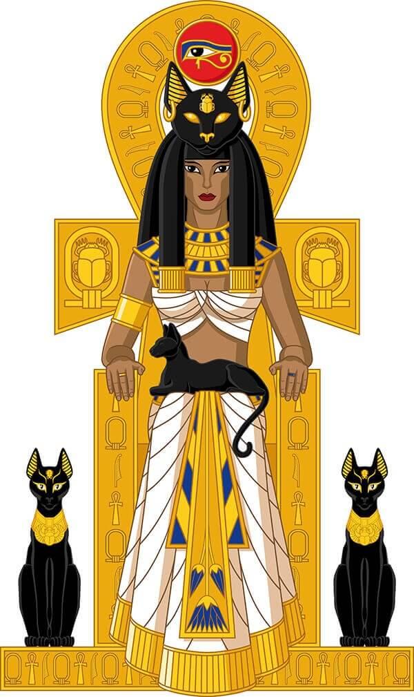 Legende der Katze im alten Ägypten