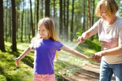 Im Wald am besten Insektenschutzmittel verwenden