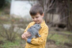 Die Therapie mit Kaninchen enthält Momente der Entspannung
