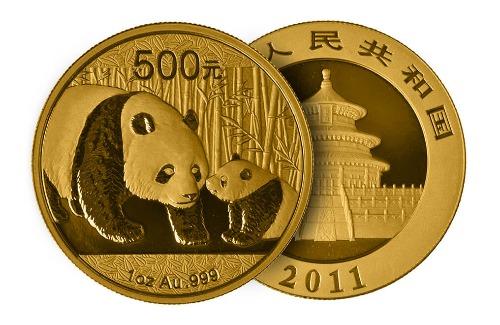 Chinesische Panda-Münze