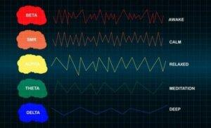 Veränderungen der Hirnaktivität können in einem Elektroenzephalogramm aufgezeichnet werden